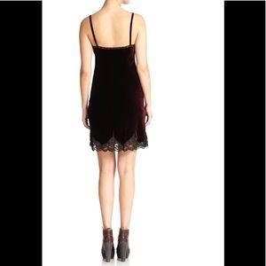 NWT RALPH LAUREN burgundy velvet slip dress